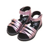 Wholesale Princess Applique Sew - 2017 fashion children's sandals new summer girls shoes Korean Princess shoes students shoes in Rome
