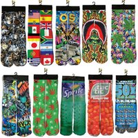Wholesale Thermal Knee High Socks Women - Wholesale- New Arrive Men 3D Socks Women meias boot Skateboard socks thermal knee high socks jogger Stockings