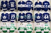 Wholesale Wholesale Stitched Jerseys - 2017 Hockey Jersey New Toronto Leafs Jerseys 100th Anniversary Hockey Jersey 34# 16# 17# 29# 44# #19 Retro Hockey Jerseys Stitched USA Size