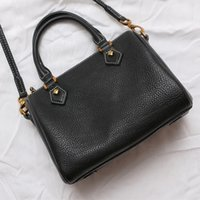 Wholesale Brown Cowhide Leather Handbags - Excellent ! Lady fashion canvas and cowhide leather boston handbag tote