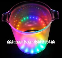 Wholesale Led Barware Wholesale - Wholesale- 2014 fashion design plastic champagne led ice bucket for barware   decoration,color changing and unique led furniture wholesale