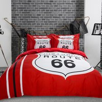 Wholesale queen size beddings online - Price Historic Route Bedding Set Red Black Duvet Covers Home Textile Full Queen King Size Beddings