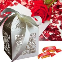 Wholesale Love Birds Wedding Candy Box - Shower Favors Love Birds Baby Candy Box with Laser Cutting Paper Wedding Favors for Birthday Party Decoration Supplies