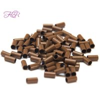 Wholesale Micro Loop Link - Micro Ring Loop Link Beads Straight Copper Beads Feather Hair Extension Tools 3.4x3.0x6.0mm 1000Pcs per lot bag