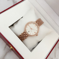Wholesale Sexy White Ladies - 2018 Fashion Sexy Women Wristwatch With diamond Rose Gold Stainless steel Lady Luxury wristwatch brand table Quartz Relojes De Marca Mujer