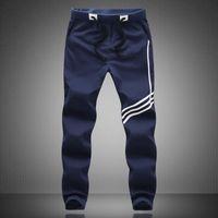 Wholesale Brand Track Pants - Wholesale-Men Cotton Pants Spring New Arrival Trousers Three Colors Loose Track Pants Casual Famous Brand Plus Sizes Pants