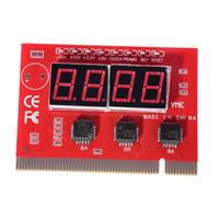 Wholesale Diagnostic Test Pc - 4-Digit 4 Bit Digital PCI PC Analyzer Diagnostic Motherboard POST Test Card Red