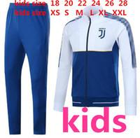 Wholesale Long Sleeve Xs - 2017 2018 KIDS DYBALA long sleeves full zipper Football jacket sportswear 17 18 juv HIGUAIN MARCHISIO soccer jersey jacket Training suit
