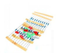 Wholesale Arduino Resistor - Wholesale-50pcs 1K 10K 100K 220 Ohm 1 4W Metal Film Resistor and Led KIT for Raspberry Pi   Arduino