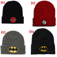 Wholesale Korean Fashion Hats - 2017 new Korean version beanies hats hip-hop flash clothing embroidered wool cap men and women autumn and winter warm sets of knitted hats