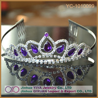 Wholesale Necklace Frontlet - New Arrival Bling Bling Silver Plated Crystal Crown Frontlet Rhinestone Necklace for Bride Wedding Party Favor
