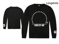 Wholesale Long Tee Shirts For Women - HBA Long Sleeve Black T-shirt Fashional Crew Neck Tee Luxury Brand Outerwear For Man And Women