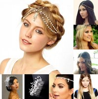 Wholesale Hairpin Band - In Stock Free Shipping Rhinestone Crystals Wedding Party Prom Homecoming Crowns Band Princess Bridal Tiaras Hair Accessories Fashion CPA