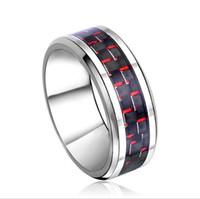 ingrosso anelli in fibra di carbonio di tungsteno-Anello di gioielli in 8mm Anello in carburo di tungsteno Anello in fibra di carbonio blu per uomo e donna TUR-003