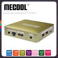 Wholesale Android Tv Box Skype - S905X Mecool HM8 TV Box 1GB 8GB Fully Loaded Quad core Android 6.0 Streaming Media Player android-tv-box