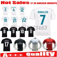 Wholesale 2017 Soccer jersey Ronaldo MODRIC BALE KROOS ISCO REAL MADRID BENZEMA football shirts Camisa JAMES jerseys freeshipping