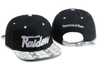 Wholesale Raiders Snapbacks - Wholesale Black Adjustable Embroidery Oakland Raider Snapback Hats Outdoor Summer Men Basketball Caps Sun Visors Cheap Women Basketball Cap