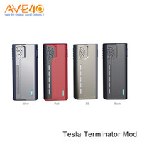 Original Tesla Terminator 90W Box Mod One Hi-drain 18650 Cell Bright LED Light Avec 0.10 ohm VS Tesla Invader 2/3