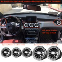 Wholesale C Perfume - 5pcs set Car air freshener Air Conditioning Air vent Outlet car fragrance car perfume for Mercedes-Benz GLC and C full series