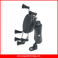 Wholesale Rear View Mirrors For Bikes - Wholesale-Motorcycle Bike MTB Bicycle Handlebar Mirror Rear View Mount Universal X-Grip Cell Phone Holder for 4-6 inch Smart Phones