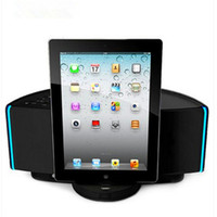 Wholesale Docking Speaker For Ipad - 30w dock charging speaker for iphone ipad hifi subwoofer surround with remote control and synchronize video out FM bluetooth