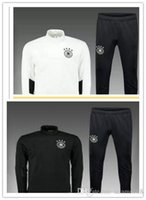 Wholesale 17 Top quality Germany soccer jackets uniforms sportswear Men Training suit football Tracksuits jackets