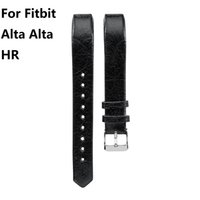 Wholesale Leather Cowhide Strap Wholesale - Head layer cowhide Genuine Leather band For Fitbit Alta Alta HR Watchbands Strap Bracelet 10 color 10PAIR  LOT