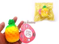 Wholesale 7 cm Kawaii arrival slow rising pineapple with squishy charm toy Vent toys