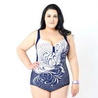 fato de banho venda por atacado-mulheres 2020 novo estilo de moda no início da primavera Womens Plus Size One Piece Swimsuit Swimwear acolchoado Monokini maiôs grandes Swimsuits Bust