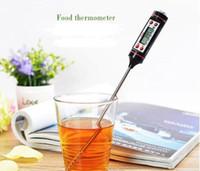 dijital anlık okuma termometreleri toptan satış-Dijital BARBEKÜ Termometre Pişirme Gıda Probe Et Termometre Mutfak Anında Dijital Sıcaklık Okumak Gıda Probe hızlı sevkiyat Termometreler