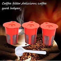 Wholesale Pod Machines - 400Pcs K-Cup K-Carafe Reusable Refillable Coffee Filter Capsule For Keurig Machines Coffee Tea Tools Coffee Filter Pod YYA181