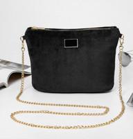 Wholesale Velvet Clutch Wholesale - VIP gift 2017 Women velvet famous brand handbag luxury shoulder bag designer clutch purse messenger tote cross body bag Storage package