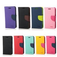 cıva flip toptan satış-Iphone 7 için 7 artı Mercury Cüzdan deri PU TPU Hibrid Yumuşak Kılıf Folio Kapak Çevirin iPhone için 8 artı X 6 6 s Artı Galaxy S7 S7 kenar Ücretsiz gemi