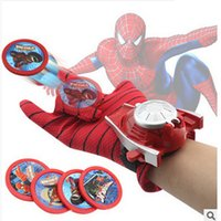 Wholesale Spider Man Gloves - Action Figure Spiderman Launcher glove Toy Kids Suitable Spider Man Cosplay Costume
