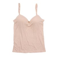 Wholesale Mold Strap - Wholesale- Sexy Modal Adjustable Strap Built In Bra Padded Self Mold Bra Tank Top Camisole X16