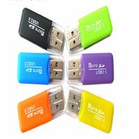 Wholesale Cheapest Sd Micro Memory Card - 300pcs lot Wholesale - cheapest NEW High Speed USB 2.0 Micro SD T-Flash TF M2 Memory Card Reader adapter