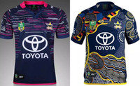 Wholesale Black Cowboys Jerseys - 2016 - 2017 Queensland Cowboys rugby Top Thailand quality home and away Cowboys NRL rugby Jersey size S-XXL men shirts free shipping