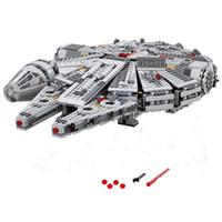 Wholesale models build - Building Blocks Model 05007 Compatible with Space Wars Millennium Falcon 75105 Model Figures Educational Toys For Children