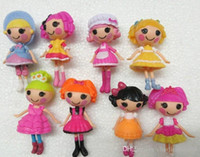Wholesale lalaloopsy dolls for sale - Group buy 8pcs New cm MGA mini Lalaloopsy Doll the bulk button eyes toys for girl classic toys Brinquedos