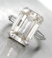 Wholesale Diamond Ring Vs1 - Lavish Platinum 10.80ct K VS1 Emerald Cut Diamond Baguette Engagement Ring EGL