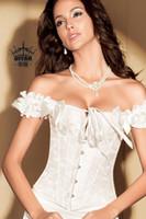 Wholesale Wedding Dress Bras Corsets - Wholesale- The bride wedding dress underwear corset push up no shoulder tape bra slimming beauty care royal vest waist shaper