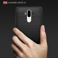 Wholesale Iphone 5c Luxury Brushed - Luxury Slim Armor Case for huawei P8 Honor 7 8 V8 5C Note 8 Mate 5 8 9 Nova PIUS Carbon Fiber Texture Brushed TPU Soft Back Cover