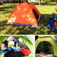 Wholesale Outdoor Canvas Camping Tents - DHL-Outdoor 200*200*135cm Oxford cloth PU waterproof coating 4 seasons 2 people single layer camping hiking tent zf-1