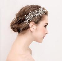 accesorio para el cabello mini diadema al por mayor-2019 popular astilla mini flor rhinestone pelo fiesta de boda accesorios para el cabello tiara de boda para boda nupcial