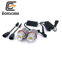 Wholesale Headlight Switches - Eonstime Error Free 2X45W XBD 9LED Angel Eyes LED Marker Light Bulbs For BMW E39, E60,E61,E63,E83,X3,X5 E87 525i M5 525i E53 E66