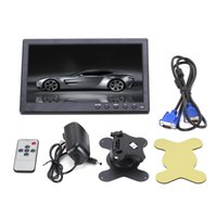 "Wholesale usb hdmi monitor - 10.1"" 1024*600 Pixels HDMI VGA AV USB Output Car Monitor with Screen Slim Design UV Coating for Monitoring ETC PC"