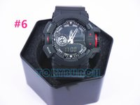 Wholesale Top Waterproof Watches - 2016 top quality AAA relogio G400 with box no mannual #1-#10 colors men's sports men watch chronograph all pointers work 3ATM waterproof