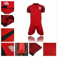 USA Jerseys Away red United States 17 18 DEMPSEY DONOVAN BRADLEY ALTIDORE Custom Shirt Günstige Trikots Set Uniformen Kit Großhandel