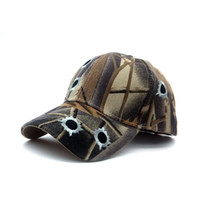 Wholesale Camouflage Outdoor Hats - Tactical Paintball Outdoor Hiking Real Tree Camouflage Baseball Cap Three-dimensional bullets Embroidered Pattern Baseball Cap