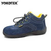 Wholesale Safety Shoes Steel Toe Cap - Wholesale- man breathable summer dress suede leather steel toe caps work safety shoes women outdoor hiking tooling ankle boots lace up mens